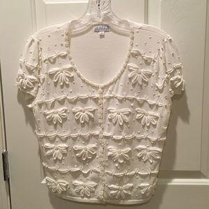 White Beaded Sweater